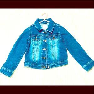 Girls denim jean jacket. EUC! Sm5-6